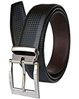 """Kesari's Black Leather Textured Belt For Men-SELECT SIZE CAREFULLY FROM THE DROP DOWN BELOW"""""""