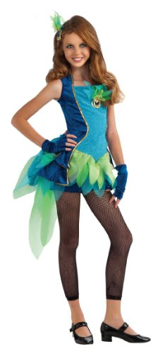 Peacock Teen Costumes (Rubie's Drama Queens Tween Peacock Costume - Tween Small (0- 2))