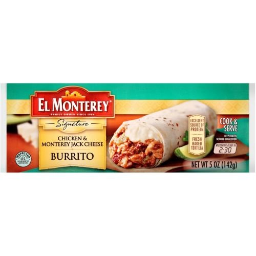 El Monterey Signature Chicken and Monterey Jack Cheese Burrito, 5 Ounce -- 24 per (Chicken Monterey Jack Cheese)
