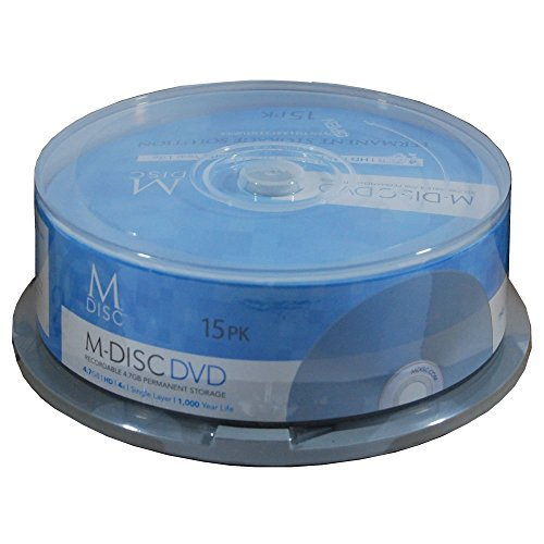 M-DISC 4.7GB DVD+R Permanent Data Archival/Backup Blank Disc Media - 15-Pack by Produplicator