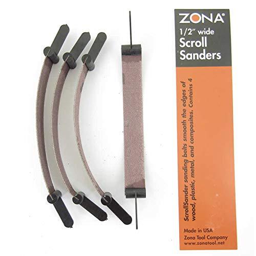 Scroll Sanders 120 Grit .5in Wide Zona Tools