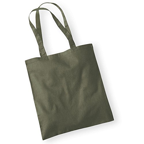 Westford MillBorsa in cotone con lunghi manici Olive Green