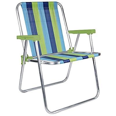 MOR Aluminum Beach Chair - 1 Position - (Pack of 1)