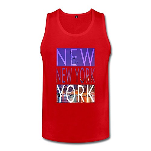 - DASYmensNew York City Tank TopLarge Red