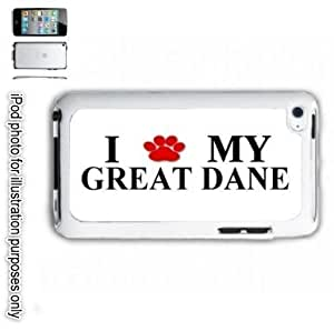 Great Dane Paw iPOD 4 Touch Hard Case Cover Shell White 4th Generation White