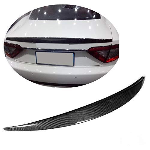 (MCARCAR KIT Trunk Spoiler fits Maserati Gran Turismo Coupe 2008-2011 Carbon Fiber CF Rear Flat Boot Lid Duckbill Highkick Spoiler Wing Lip)