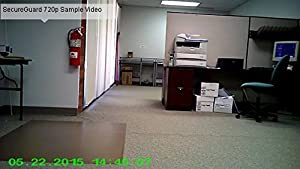 SecureGuard HD 720p Personal Home Alarm Clock Radio Spy Camera Covert Hidden Nanny Camera Spy Gadget by AES Spy Cameras