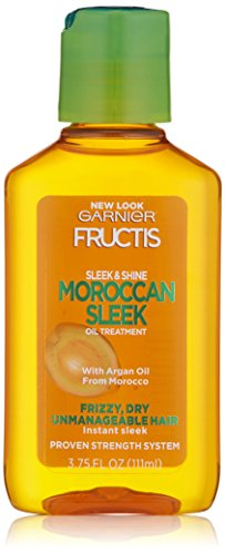 Garnier Fructis Sleek & Shine Moroccan Sleek Oil Treatment, Frizzy, Dry Hair, 3.75 fl. oz.