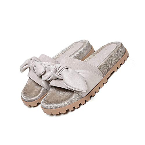 Shoes Pumps 2018 Sandals Slides Women Cute Platform Kawaii Flatform Summer Green Toe Open Harajuku Bowtie xzwEfEqOZ
