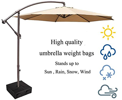 CELEISITE 2-piece Umbrella BASE WEIGHT BAGS, Waterproof Umbrella Stand Weights, 18'' Weight Bags with Shovel for any Offset, Cantilever or Outdoor Patio Umbrella, Easy to Set up by celeisite (Image #2)