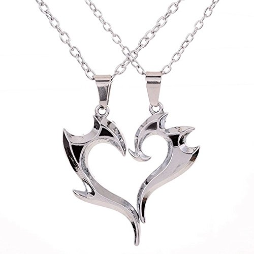 [THOBAL 1 pair Silver Alloy lovers pendant couple relationship necklace puzzle necklace for couples] (Cute Angel And Devil Costumes)
