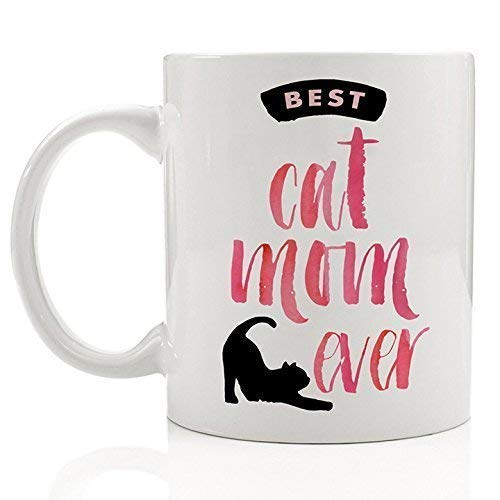 Cat Lover Gifts Best Cat Mom Ever Pet Owner Rescue Coffee Mug Tea Cup