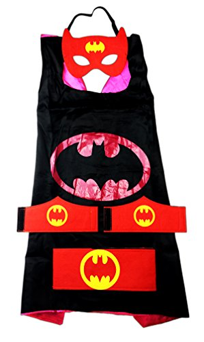 MyTinyHeroes Children's Superhero Costume - 5 Pc Set - DC Comics - BatGirl - Halloween Gotham Girls Batgirl Costumes
