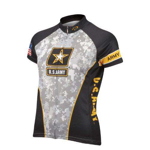 Primal Wear Women's U.S. Army Camouflage Cycling Jersey, Multi, Small