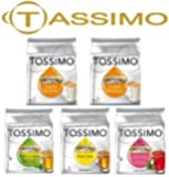 Tassimo 5 Packet TEA MIX of Different Flavour Tea T-Discs (16 T-Discs per Packet = 80 T-Discs in Total)