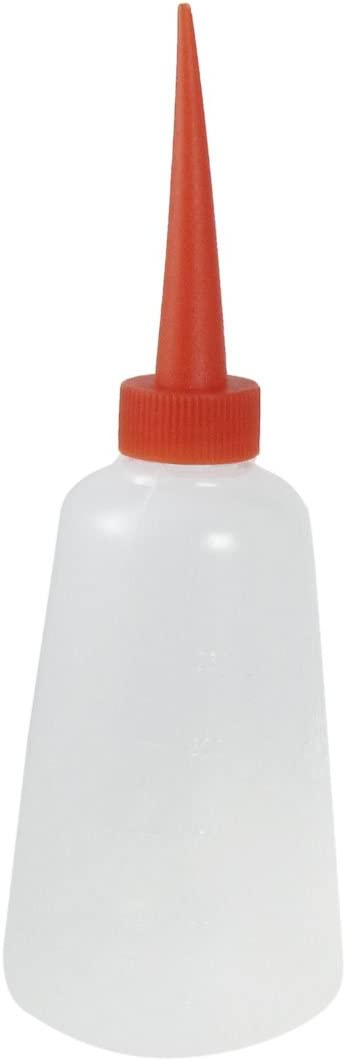 uxcell Plastic Sewing Machine Oil Bottles 30ml 2 Pcs Clear White