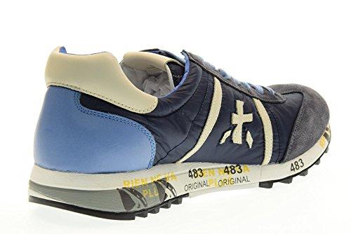 PREMIATA hombre bajas zapatillas de deporte LUCY 1298E talla 44 Azul / azul claro