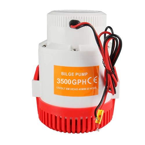 (Bang4buck 12 V Bilge Pump, 3500 GPH 12A Boat Marine Plumbing Water Pump- 1-1/8
