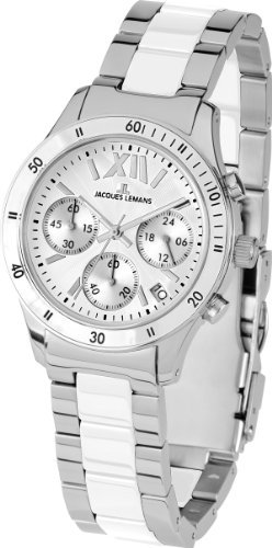 Jacques Lemans Men's 1-1681B Rome Sport Analog Chronograph with High Tech Ceramic Watch