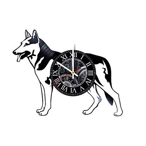 VitaLife Dog Animal Art Design Vinyl Record Wall Clock - Original Handmade Gift for Any Ocassion