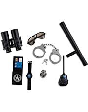 Dress Up America Police Accessory Set - Police Officer Deputy Role Play Kit for Kids