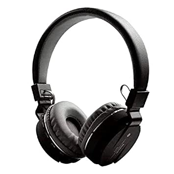 SAIANSH ENTERPRISES Wireless Bluetooth Sports Portable Headphones with Microphone  Black