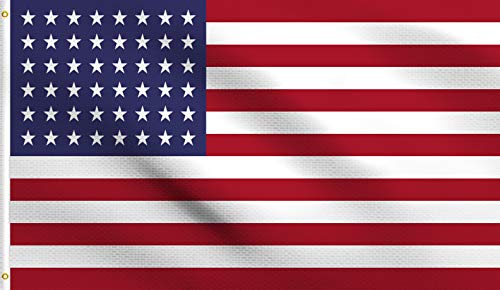 DMSE 48 Star USA United States America American 1912 Flag 3X5 Ft Foot 100% Polyester 100D Flag UV Resistant (3