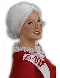 Women's Holiday Mrs. Santa Costume Wig