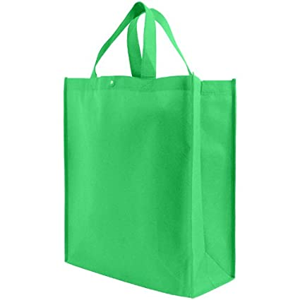 a9464e3b97c38 Amazon.com  Reusable Grocery Tote Bag Large 10 Pack - Kelly Green ...