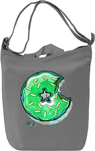Cosmic Green Donut Borsa Giornaliera Canvas Canvas Day Bag| 100% Premium Cotton Canvas| DTG Printing|