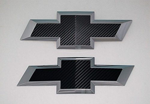 2015 Colorado Black carbon fiber vinyl billet aluminum bowtie grille and tailgate emblems