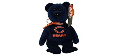 87ce1ba178b Image Unavailable. Image not available for. Color  Chicago Bears NFL TY  Beanie Baby Teddy Bear ...