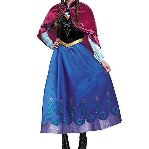겨울 왕국 코스프레 안나 드레스 의상 여성 (S/M/L/XL)