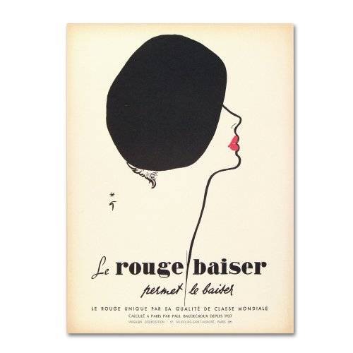 Apple Collection - Le Rouge Baiser Artwork by Vintage Apple Collection, 18 by 24-Inch Canvas Wall Art