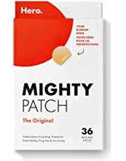 Mighty Patch Original from Hero Cosmetics - Hydrocolloid Acne Pimple Patch for Zits and Blemishes, Spot Treatment Stickers for Face and Skin, Vegan and Cruelty Free (36 Count)