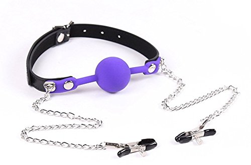 Gag - Soft Silicone Ball Gag - The Beginner Gifts for BDSM Fetish Sexy Bondage Restraints by centstar