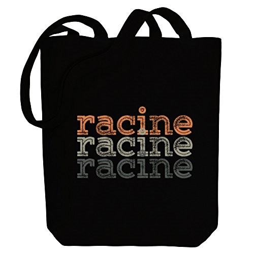 Tote Racine Tote retro repeat Cities Bag US repeat Idakoos US Canvas Idakoos retro Cities Bag Canvas Racine xZzRAA