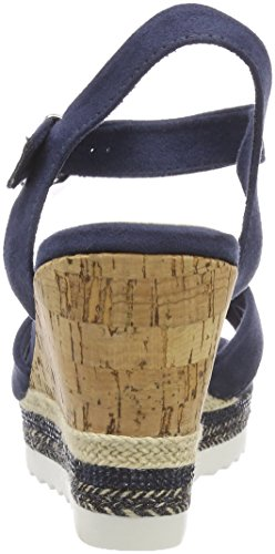 Marco Tozzi Donne 28707 Sandali Slingback Blu (pettine Della Marina)