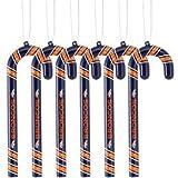 NFL Denver Broncos Candy Cane Ornament Set