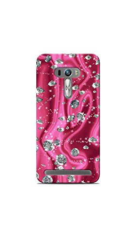 Print Station SELF 5157 Diamonds Pattern Printed Back Cover for Asus Zenfone Selfie