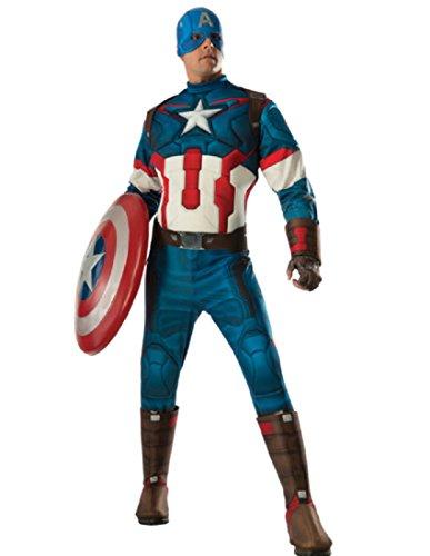 [Rubie's Men's Avengers 2 Age Of Ultron Adult Captain America, Multi, X-Large] (Avengers 2 Captain America Costumes)