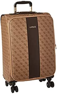 """Guess Nissana 20"""" Spinner 8-Wheeler Brown with Gold Hardware"""