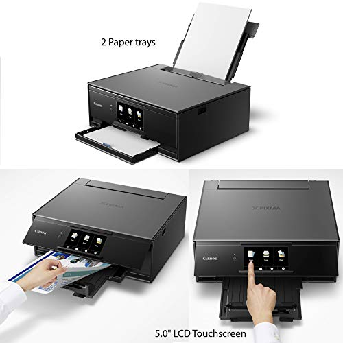 Canon TS9120 Inkjet one Printer with Scan, Printing, Cloud of Ink Tanks Paper Sample + Printer Cloth