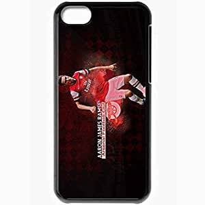 Personalized iPhone 5C Cell phone Case/Cover Skin 2013 best aaron ramsey Black