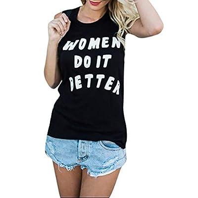 MURTIAL Fashion Womens Vest Undershirt Sleeveless T-Shirts Letter Printing Blouse Loose Tank Top