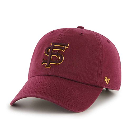 NCAA Florida State Seminoles '47 Brand Clean Up Adjustable Hat, Cardinal, One Size