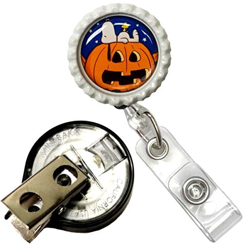 Great Pumpkin Charlie Brown Inspired Halloween Real Charming Premium Decorative ID Badge Holder (Snoopy Key-BAK)]()