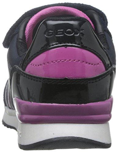 Geox J Maisie Girl a, Zapatillas Para Niñas Blau (Dk NAVYC4021)