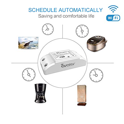Alexa Switch 2 Pack, Smart Switch Remote Control for Household Appliances,  Wireless Wifi Switch Smart Life DIY Your Home, No Hub Required by Avatar