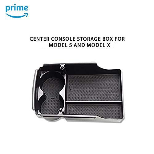 TOOGOO Car Center Console Armrest Box Storage Box Cup Holder for Tesla Model X//S 2012 2013 2014 2015 2016 2017